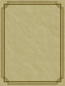 キャラクター設定シートの台紙