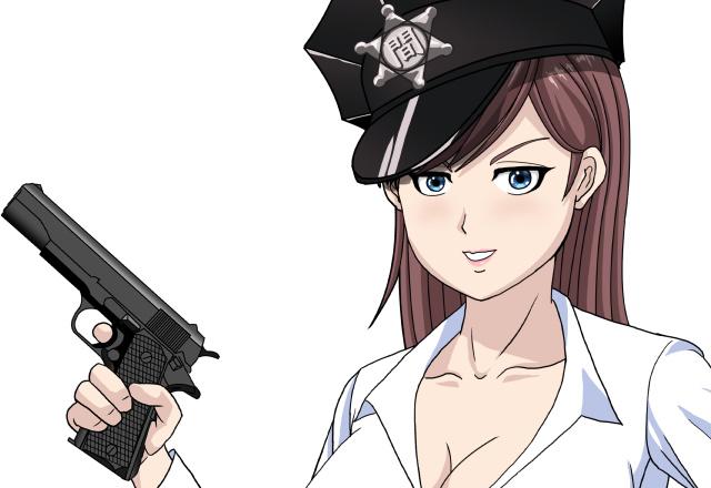 谷間でか拳銃