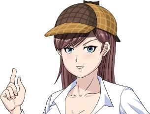 谷間探偵顔グラ
