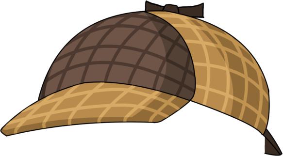 探偵の帽子画像