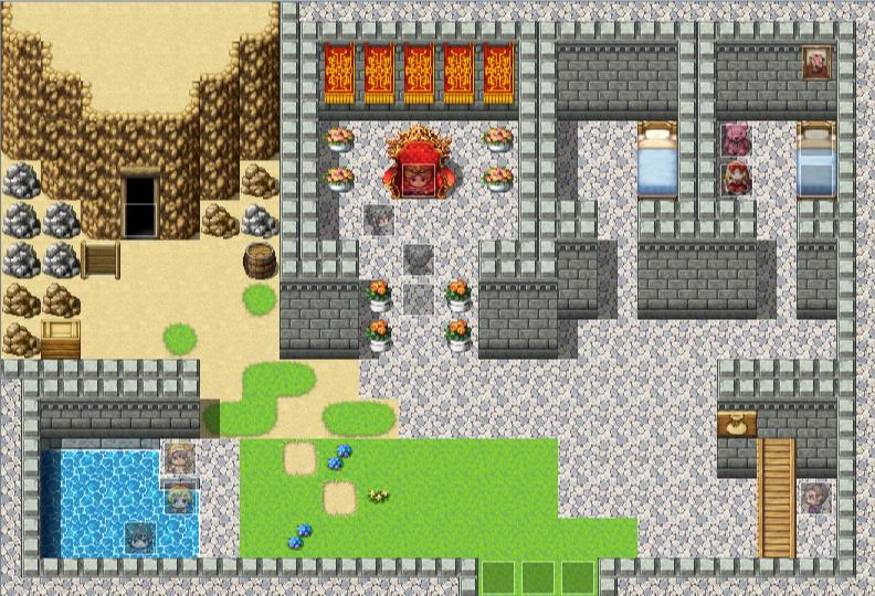 最初の街のマップ