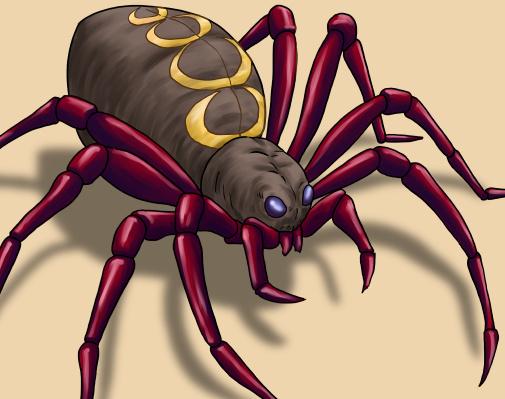 モンスター蜘蛛(クモ)のイラスト