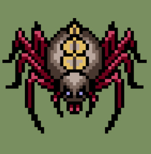 RPG蜘蛛(クモ)のキャラチップ、歩行グラ
