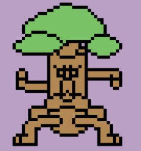 木のモンスター、トレント、木人、歩行グラ、キャラチップ色つけ