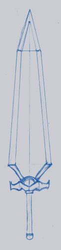 ハロルドの剣の下絵