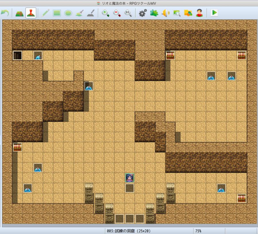 リオと魔法の本、サンプルマップ画像