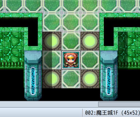 プレイヤーの初期位置を決めたところの画像