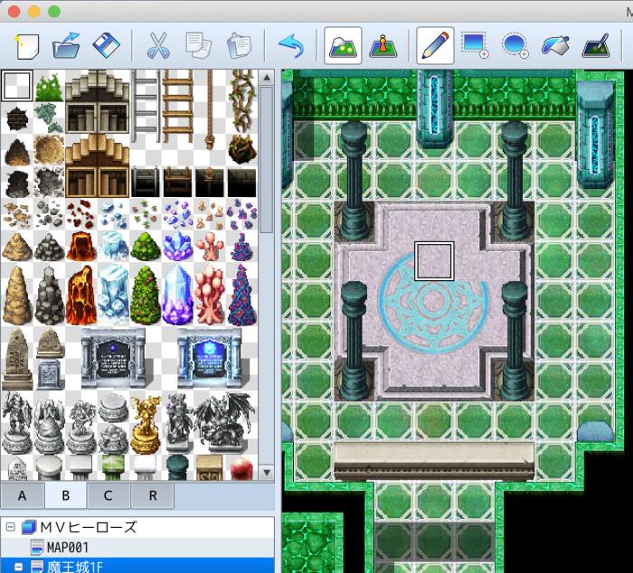 RPGツクール 透明タイルでマップを消していく