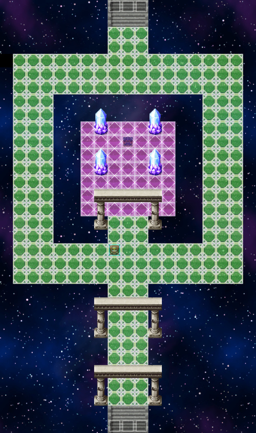 魔王の城2Fのマップ