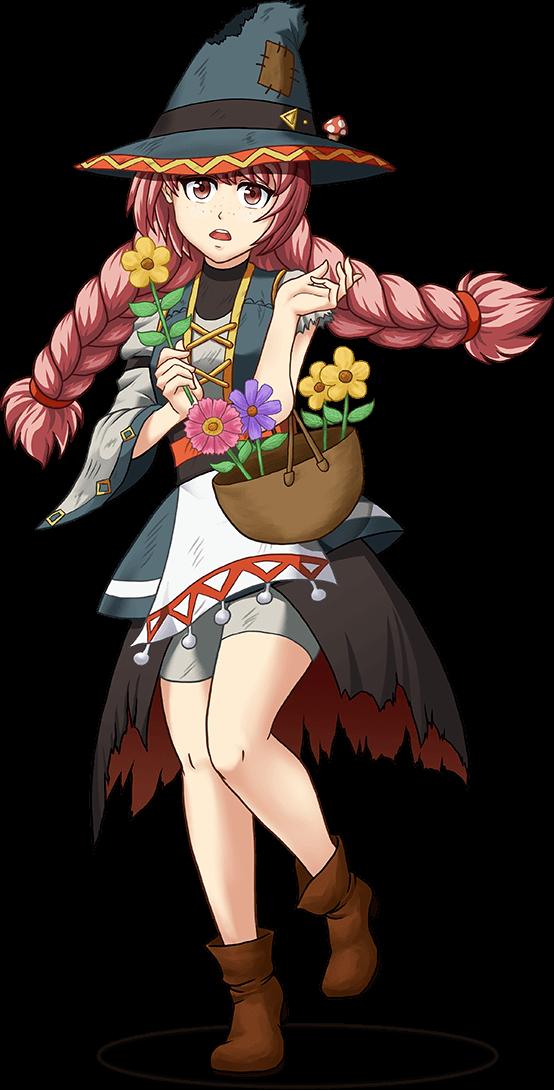 ツクールMV、お花売りのマーシャ立ち絵、256色