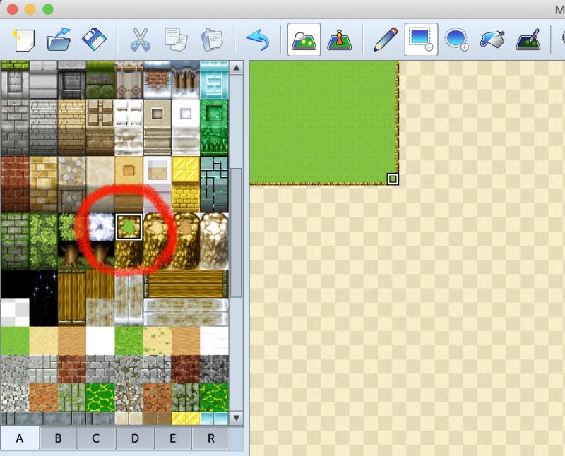 RPGツクールMZ、ダンジョン(渓谷)のマップ制作、レイヤー2