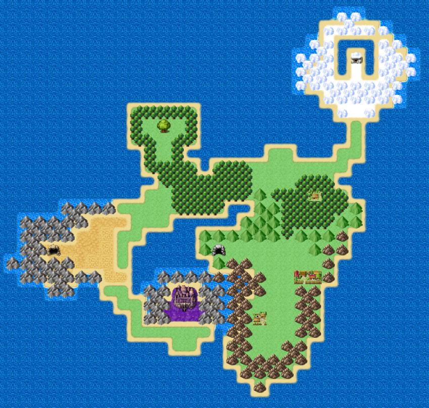 RPGツクールMZで作ったワールドマップ