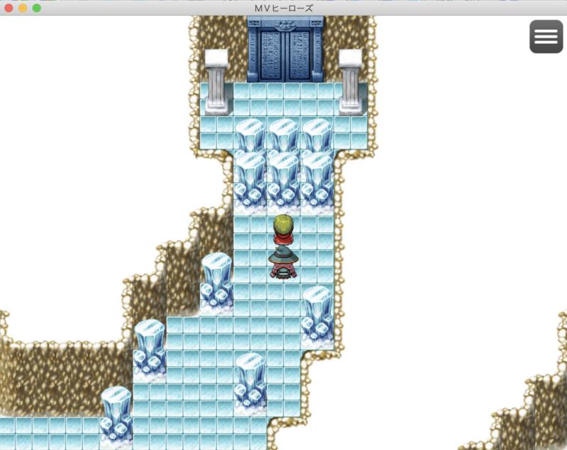 氷の遺跡入り口、氷で塞がれている。