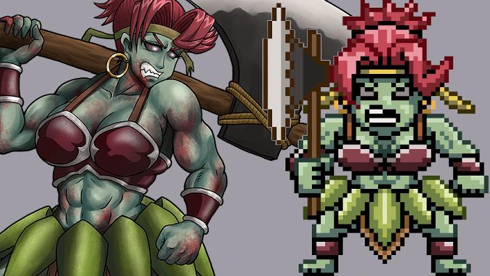 RPGモンスター、ゾンビ女、サムネイル