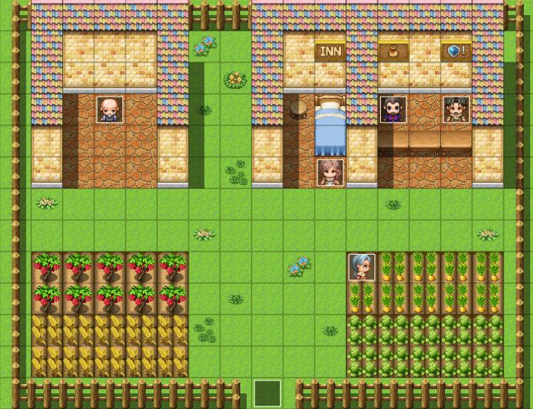 RPGツクールで作った村マップ