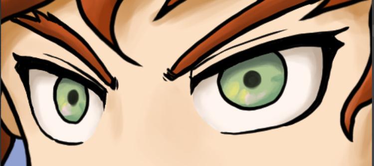 キャライラスト、瞳の塗り方2