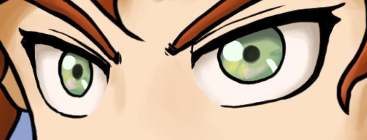 キャライラスト、瞳の塗り方3