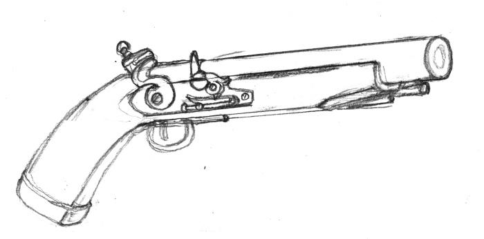 ドワーフ用の銃下絵