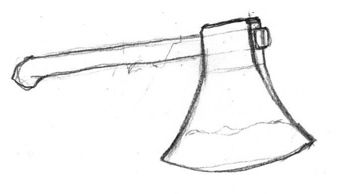 ドワーフ用斧の下絵